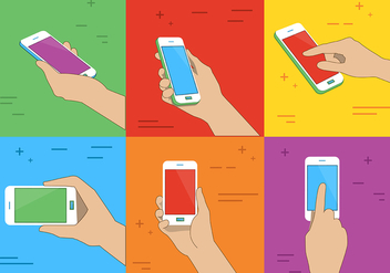 Free Phone Holding Vector Illustration - vector gratuit #371651