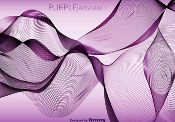 Purple Abstract Vector Wave Background - бесплатный vector #371711