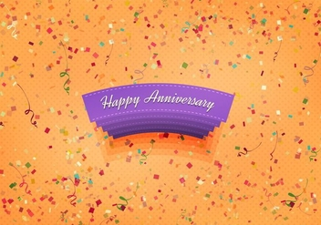 Free Vector Happy Anniversary Background - Kostenloses vector #371781