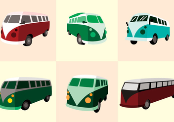 VW Camper Vector - Free vector #372091