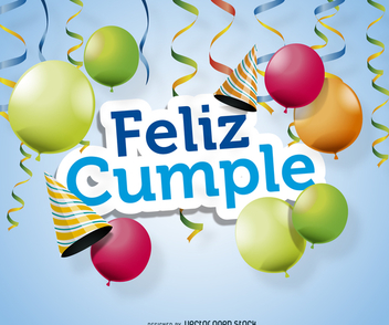 Feliz cumple poster design - Free vector #372351