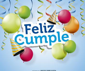 Feliz cumple poster design - бесплатный vector #372351