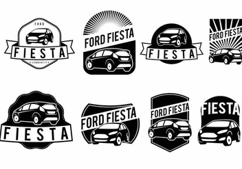 Ford Fiesta Badge Set - vector #372401 gratis