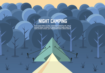 Free Night Landscape Vector - Free vector #372421