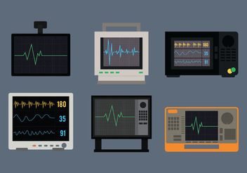 Heart Monitor Vector - Free vector #372501