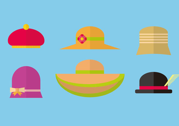 Various Hat Vector - Free vector #372611
