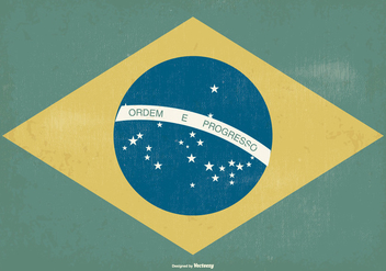 Old Style Brazil Flag - Kostenloses vector #372701