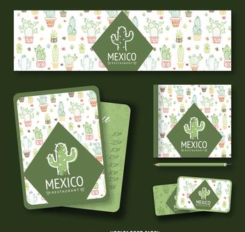 Mexican cactus branding - Free vector #372801