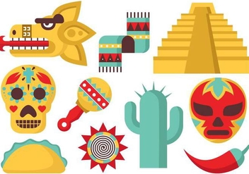 Free Mexico Icons Vector - Free vector #372891