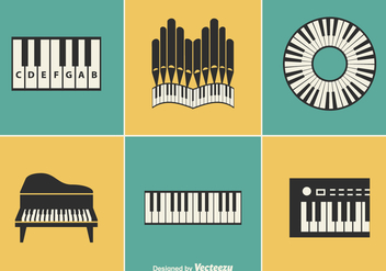 Free Keyboard Instrument Vector Designs - бесплатный vector #372921