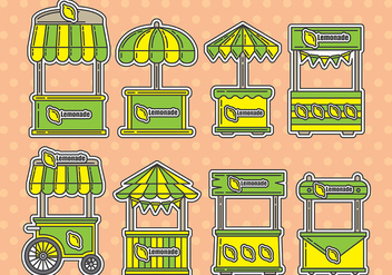 Lemonade stand icons - vector gratuit #372971