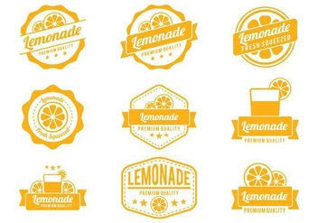 Lemonade Badge Vectors - бесплатный vector #373011