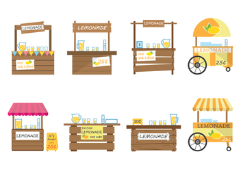 Free Lemonade Stand Vector - Free vector #373161