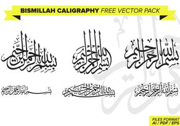 Bismillah Calligraphy Free Vector Pack - бесплатный vector #373251
