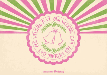 Cute Retro Wedding Illustration - vector gratuit #373321