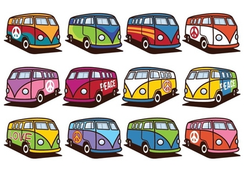 Free VW Camper Pack - Kostenloses vector #373421