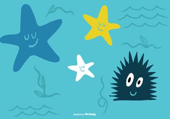 Sea Creature Vectors - Kostenloses vector #373431