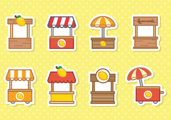 Free Cute Lemonade Stand Vector - Free vector #373571