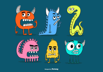 Drawn Monster Friend Vectors - vector gratuit #373681