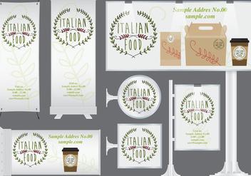 Italian Food Banners - vector #373701 gratis