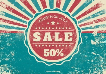 Grunge Fourth of July Sale Illustration - Free vector #373711