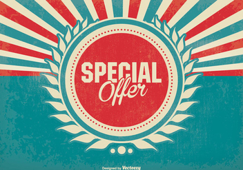 Promotional Special Offer Retro Background - vector gratuit #373791