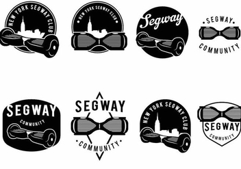 Segway Badge Set - Kostenloses vector #373871