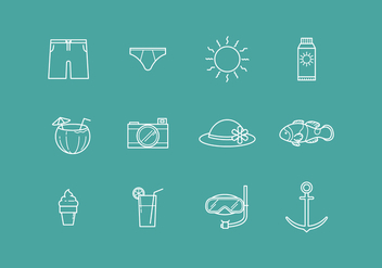 Free Outline Beach Vector - vector gratuit #373961