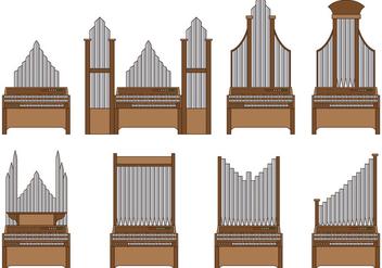 Set Of Pipe Organ Vector - Kostenloses vector #374251