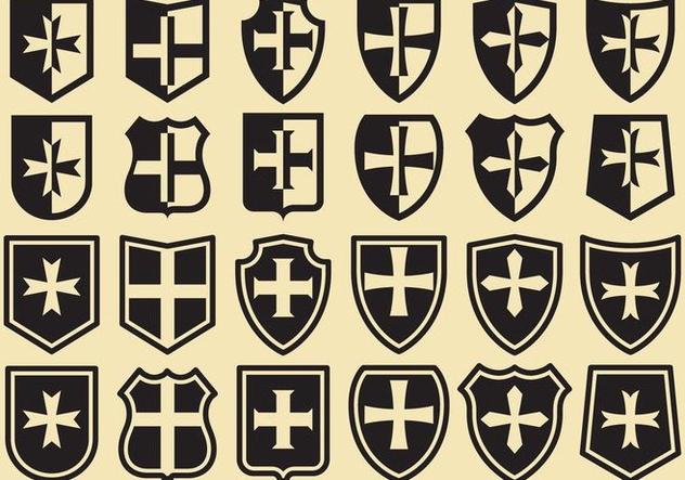 Templar Shields - бесплатный vector #374311