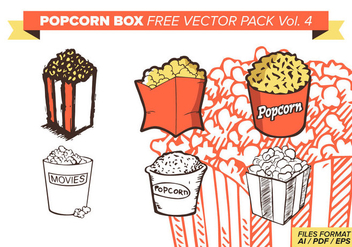 Popcorn Box Free Vector Pack Vol. 4 - Free vector #374381
