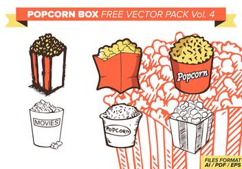 Popcorn Box Free Vector Pack Vol. 4 - Kostenloses vector #374381