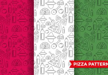 Pizza Pattern Vector - vector #374461 gratis