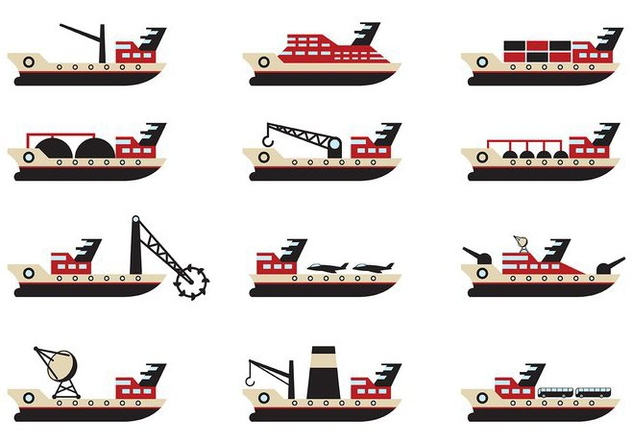 Tugboat Vector - бесплатный vector #374631