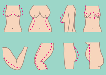 Free Plastic Surgery Icons - vector #374781 gratis