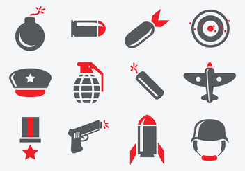 Free World War 2 Icons - vector gratuit #374841