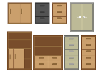 File Cabinet Vector 2 - Free vector #375031