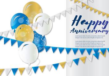 Anniversary Card - Kostenloses vector #375211