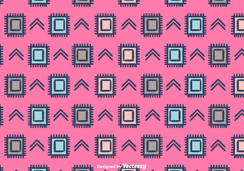 Ethnic Vector Pattern Background - Free vector #375381