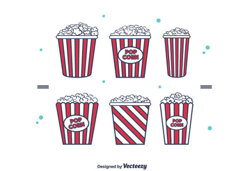 Popcorn Box Vector - Kostenloses vector #375391