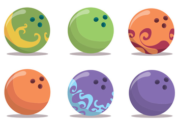 Bowling Alley Vector Set - Kostenloses vector #375661