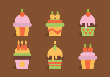 Vector Cupcakes - Free vector #375821
