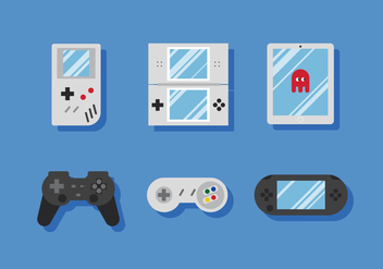 Vector Video Game Icons - vector gratuit #376031