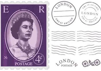 Queen Elizabeth Postage Stamp - Free vector #376251
