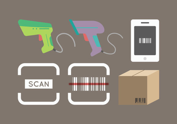 Free Barcode Scanner Vector 2 - Free vector #376311