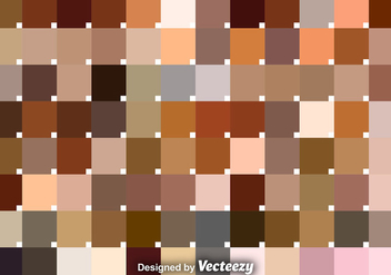 Vector Set Of Skin Tone Swatches - Free vector #376361