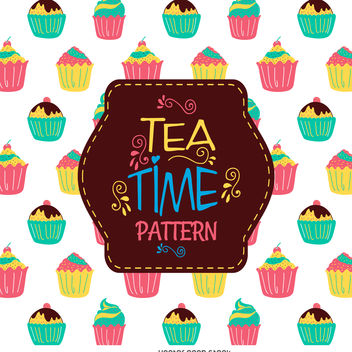 Cupcake seamless pattern - Free vector #376531