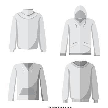 Blank hoodie mockup set - Free vector #376781