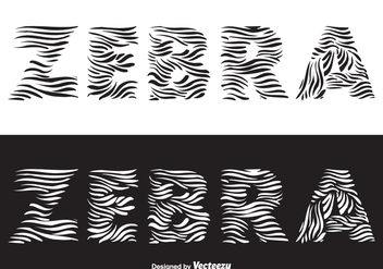Free Zebra Vector Lettering - Kostenloses vector #376931