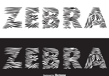 Free Zebra Vector Lettering - Free vector #376931